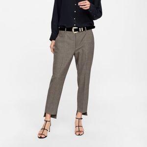 ZARA Pants with Asymmetric Hem